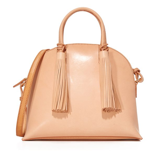 Loeffler Randall dome satchel in natural - A smooth-leather Loeffler Randall satchel with a rounded...
