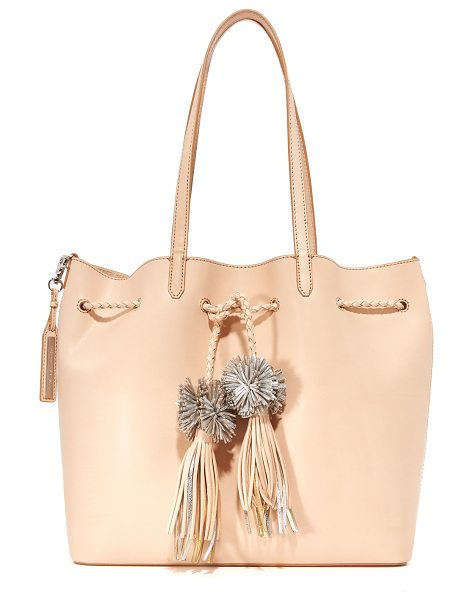 Loeffler Randall drawstring tote in natural/silver - A large Loeffler Randall tote in smooth leather....