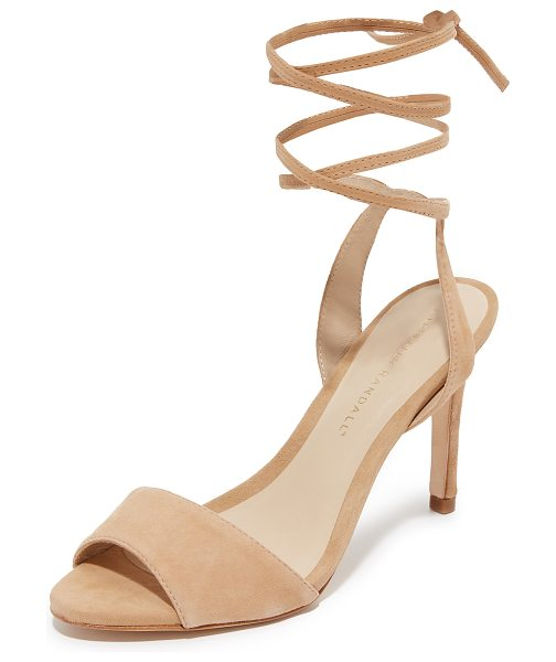 Loeffler Randall Elyse ankle tie sandals in nude - Smooth suede Loeffler Randall sandals styled with slim...