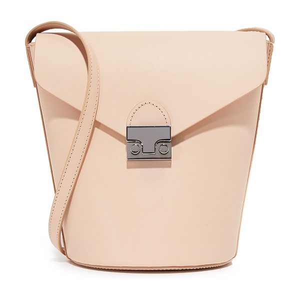 Loeffler Randall Flap bucket bag in sand