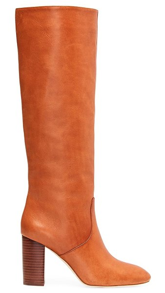 Loeffler Randall goldy knee-high leather boots in cognac