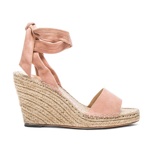 Loeffler Randall Harper heel in blush - Suede upper with leather sole. Wrap ankle with tie...