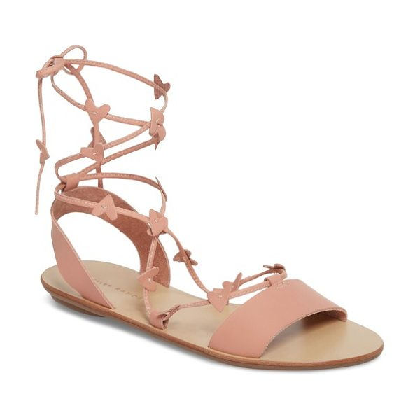 Loeffler Randall heartla wraparound sandal in pink - Slender laces adorned with tiny cutout hearts wind...