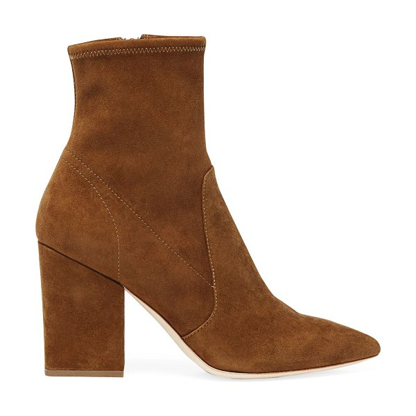 Loeffler Randall isla suede ankle boots in cacao
