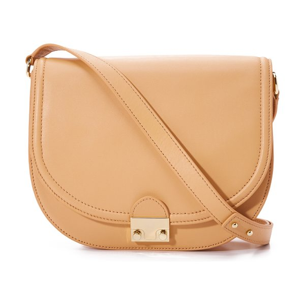 Loeffler Randall Large saddle bag in natural - A simple Loeffler Randall cross body saddle bag cut from...