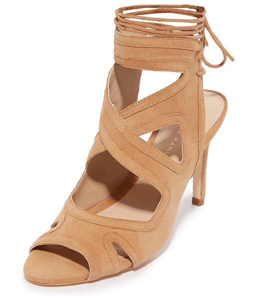 Loeffler Randall Leila Gladiator Sandals in almond - Tonal trim traces the crisscross straps and cutouts on...