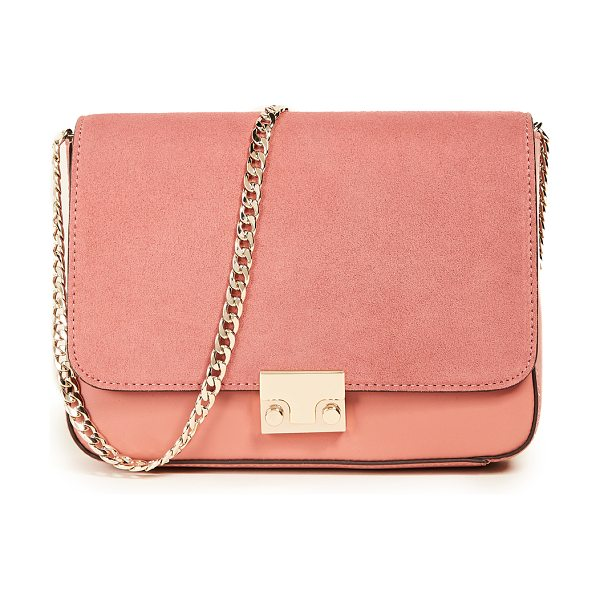 Loeffler Randall lock shoulder bag in dusty rose - A structured Loeffler Randall bag in a mix of tonal...