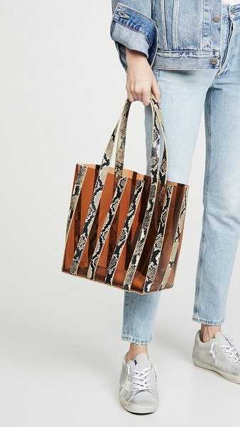 Loeffler Randall marlena pieced tote bag in sand