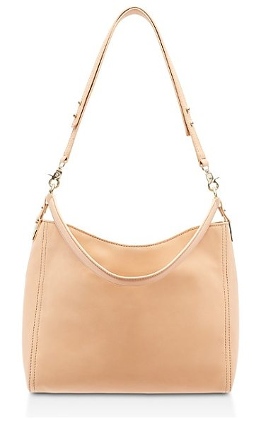 Loeffler Randall Mini Leather Hobo in natural/gold - Loeffler Randall Mini Leather Hobo-Handbags