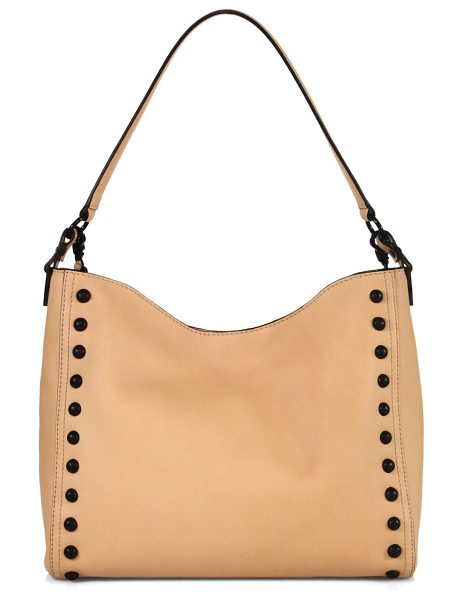Loeffler Randall mini studded leather hobo bag in natural - Slouchy leather hobo bag framed with contrast studs. Top...