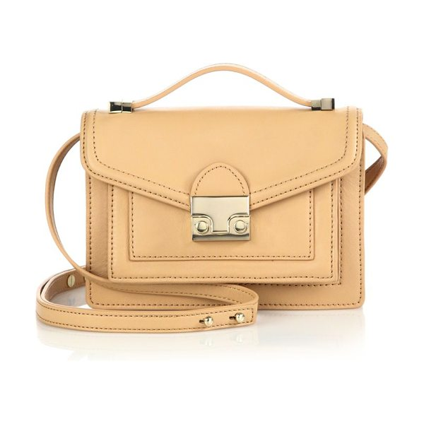 Loeffler Randall rider mini leather satchel in natural - Petite crossbody design with clean, structured lines....