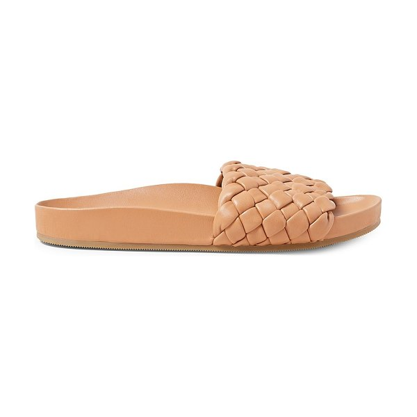 Loeffler Randall sonnie woven leather slides in brown