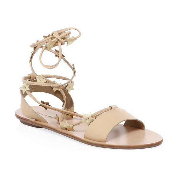 Loeffler Randall star leather ankle-strap sandals in wheat
