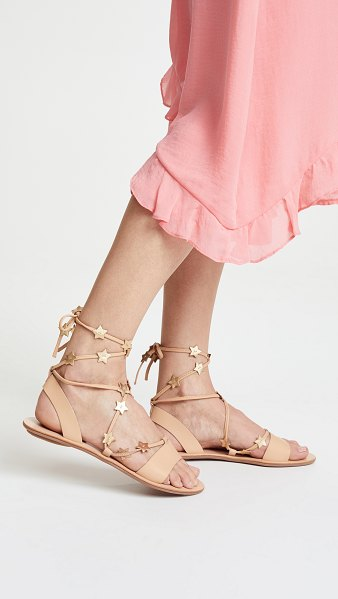 Loeffler Randall starla sandals in wheat/gold
