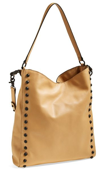 Loeffler Randall studded hobo in natural/ black