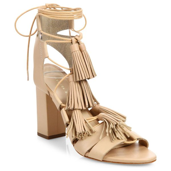 LOEFFLER RANDALL tasseled lace-up leather sandals - Tassels cascade down the front of these downtown-cool...