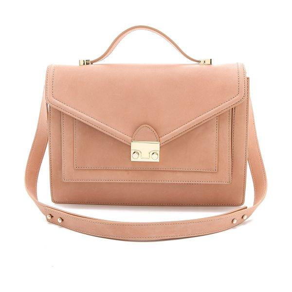 Loeffler Randall The rider bag in nude - A classic satchel silhouette from Loeffler Randall. The...