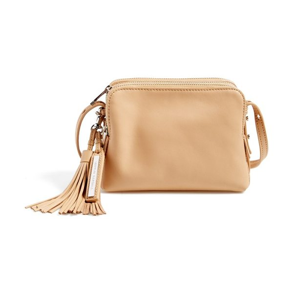 Loeffler Randall Triple zip leather crossbody bag in natural - With its clean lines, sleek silhouette and polished,...