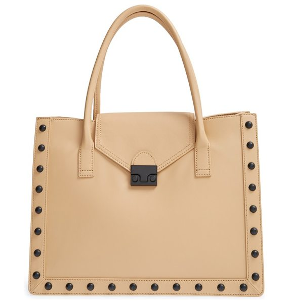 LOEFFLER RANDALL Work tote - Loeffler Randall's lacquered push-lock closure secures a...