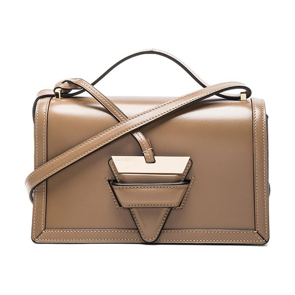 "LOEWE Barcelona Bag in nude - ""Calfskin leather with leather lining and gold-tone..."
