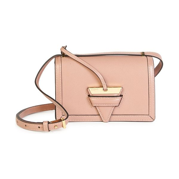 LOEWE barcelona small leather shoulder bag - Shiny goldtone hardware accents sleek leather bag....