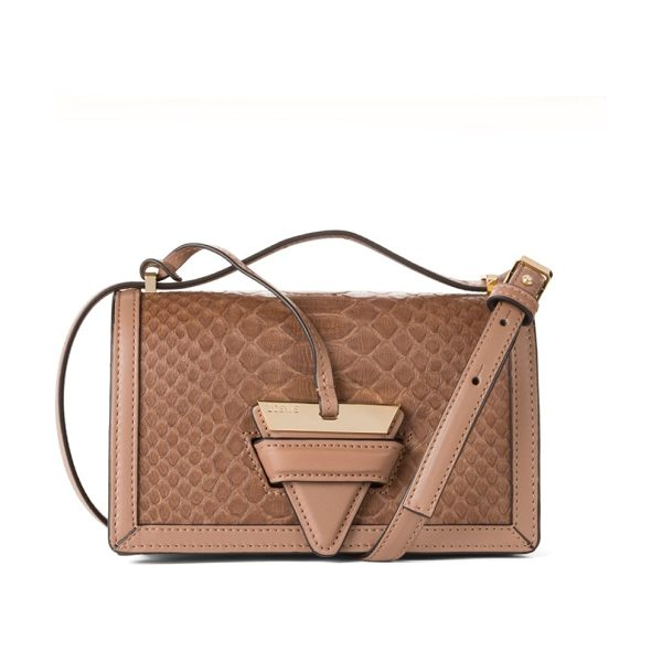 Loewe barcelona small python leather crossbody bag in nude - Shiny hardware shapes exotic python leather bag....