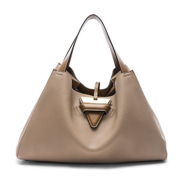 Loewe Barcelona Tote Bag in sand & mink colour - Calfskin leather with raw lining and gold-tone hardware....