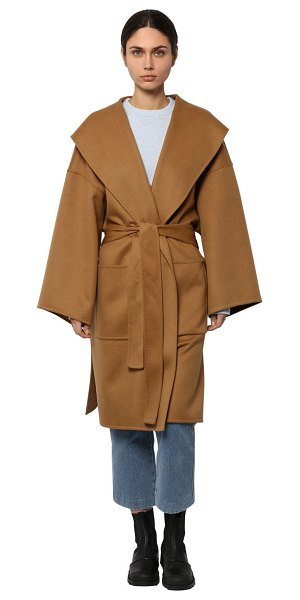 Loewe Belted wool & cashmere cloth coat in camel