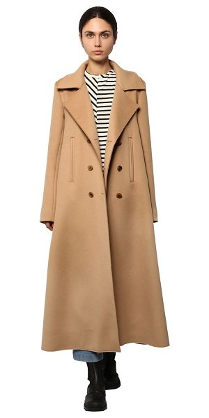 Loewe Double breast swing cashmere cloth coat in camel