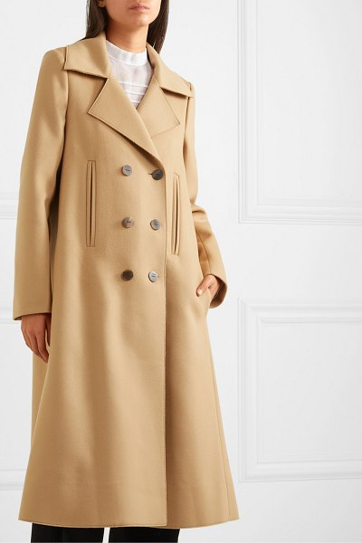 Loewe double-breasted wool and cashmere-blend coat in camel