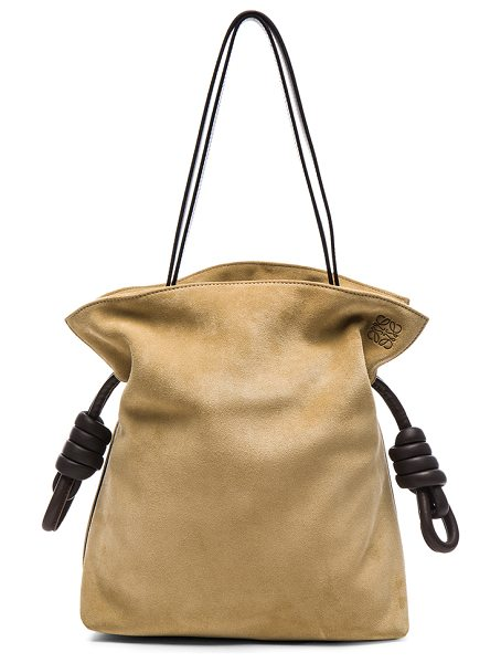 Loewe Flamenco Knot Suede Bag in brown