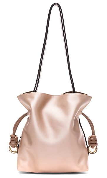 Loewe Flamenco Satin Knot Small Bag in pink - Satin fabric with leather lining and gold-tone hardware....