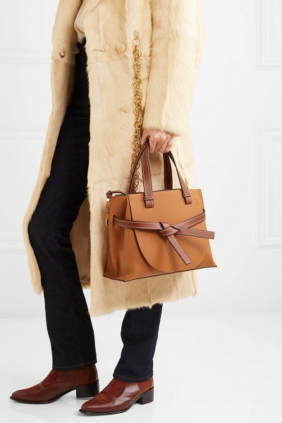 Loewe gate small textured-leather tote in tan - Jonathan Anderson updates Loewe's coveted 'Gate' family...