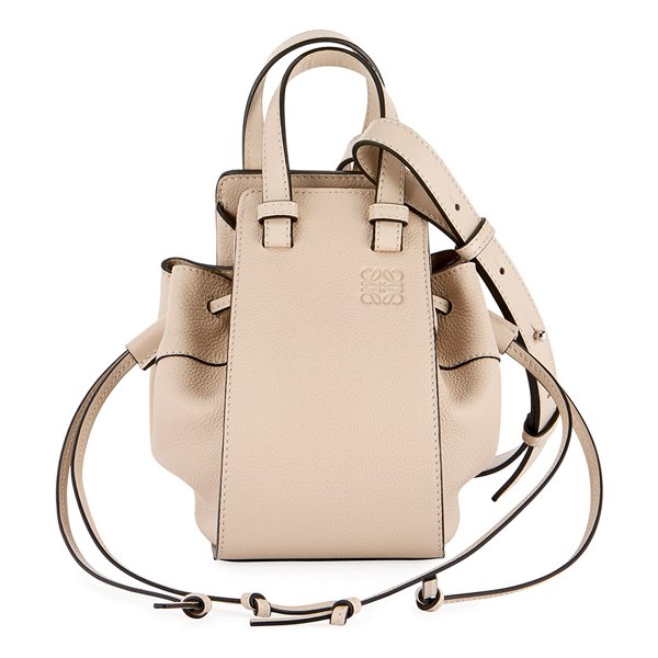 Loewe Hammock Mini Classic Shoulder Bag in beige
