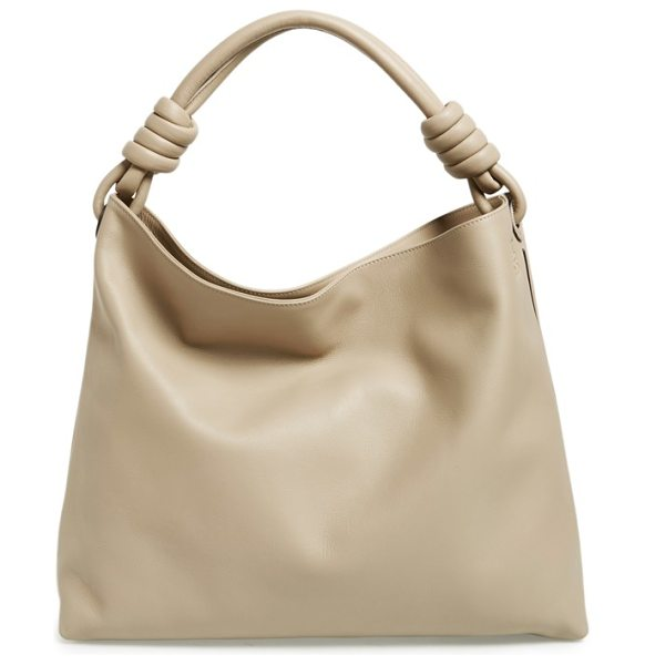 Loewe Large flamenco calfskin leather hobo in stone - For the gorgeous Flamenco Knot hobo bag, the Loewe...