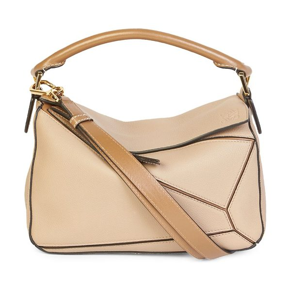 Loewe leather shoulder bag in sand
