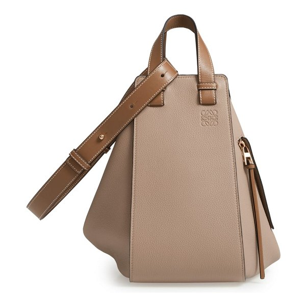 Loewe hammock medium calfskin leather hobo in beige