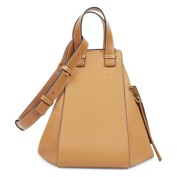 Loewe medium hammock leather bag in light caramel