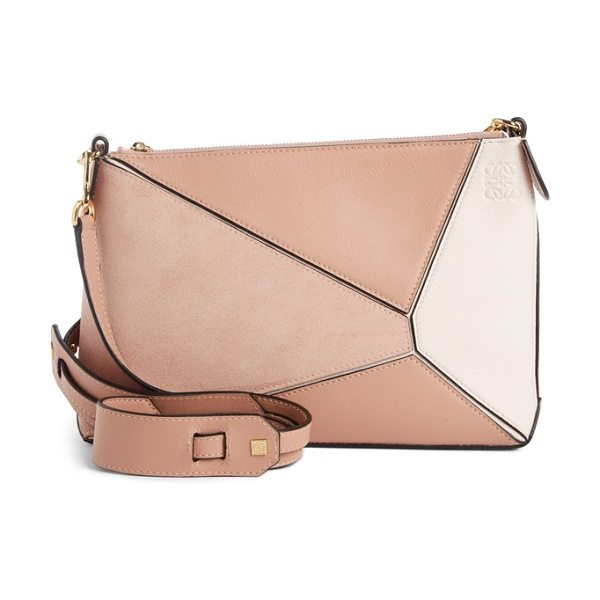 Loewe mini puzzle leather crossbody bag in blush multitone - Combining the expert craftsmanship of the Spanish label...