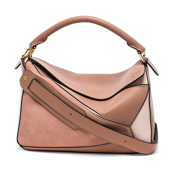 "LOEWE Puzzle Bag - ""Calfskin leather and suede with signature herringbone..."