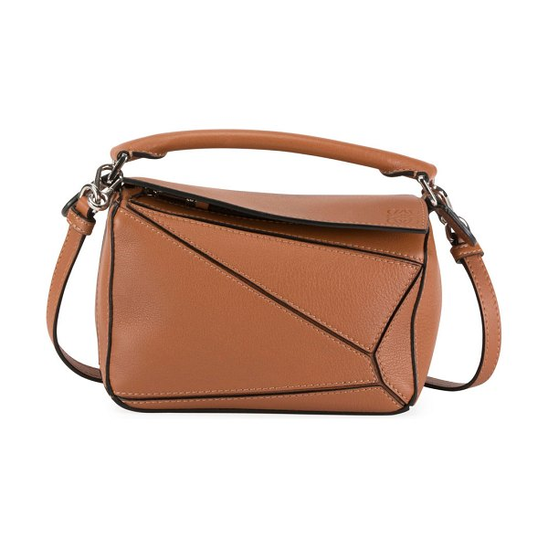 Loewe Puzzle Mini Classic Satchel Bag in tan