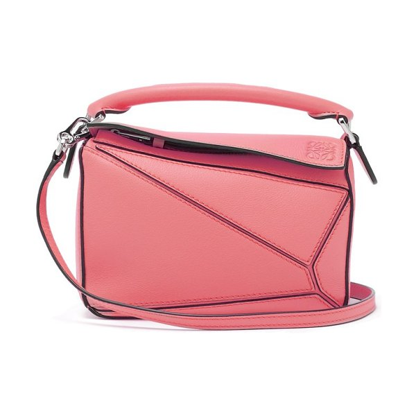 Loewe puzzle mini grained leather cross body bag in pink - Loewe - Instantly recognisable, Loewe's pink leather...