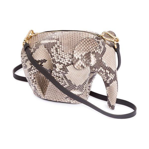 LOEWE Python Elephant Mini Bag - Loewe elephant-shaped mini bag in python snakeskin....