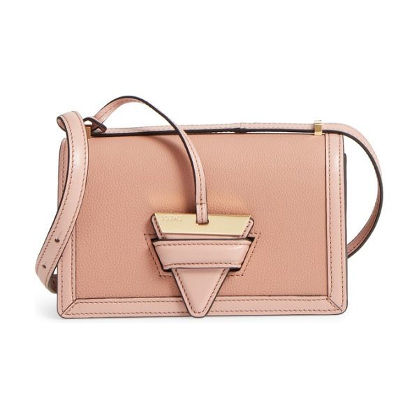 Loewe small barcelona grainy leather crossbody bag in blush