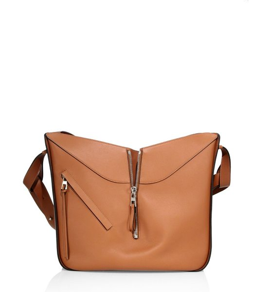 Loewe medium hammock leather hobo bag in tan - Convertible, architectural style in smooth leather. Top...