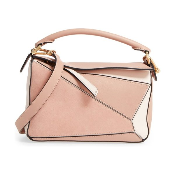 Loewe small puzzle bicolor leather bag in blush multitone - One of Jonathan Anderson's first creations after taking...