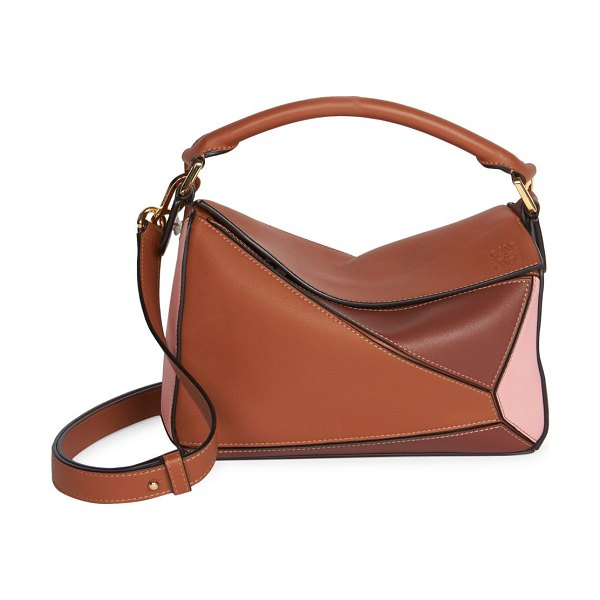 Loewe small puzzle leather bag in tan