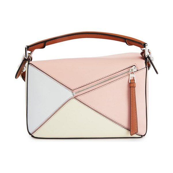 Loewe x paul ibiza small puzzle leather shoulder bag in pink