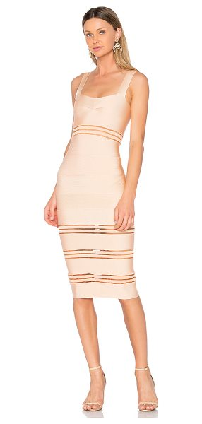 LOLITTA Sophie Midi Dress - Self: 70% viscose 26% polyamide 4% spandexContrast: 90%...