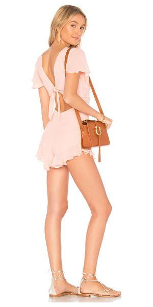 "LOLLI Flirty Romper - ""100% viscose. Hand wash cold. Front tie detail. Waist..."